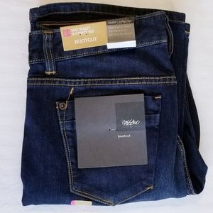 NWT Mossimo Dark Wash Mid Rise Curvy Fit Boot Cut